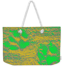 Paw Prints In Yellow And Lime Weekender Tote Bag