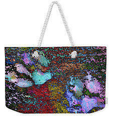 Paw Prints Lilac And Turquoise Pads Weekender Tote Bag
