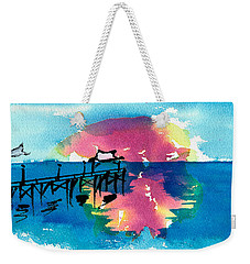 Weekender Tote Bag featuring the painting Pawleys Island Sunrise Watercolor by Frank Bright