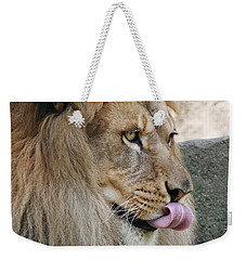 Weekender Tote Bag featuring the photograph Pbbbt by Judy Whitton