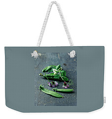 Pea Pods And Flowers Weekender Tote Bag