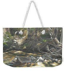 Weekender Tote Bag featuring the painting Peace At Darby by Lori Brackett