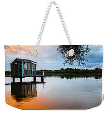 Peace At Pete's Jetty Weekender Tote Bag