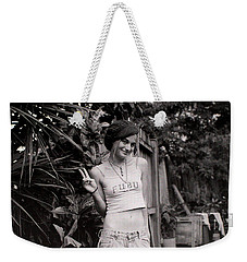 Weekender Tote Bag featuring the photograph Peace Chick by Greg Allore