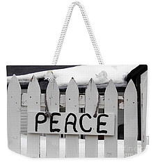 Peace Weekender Tote Bag by Fiona Kennard