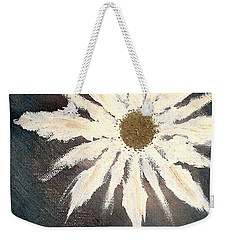 Weekender Tote Bag featuring the painting Peace Flower by Jacqueline McReynolds