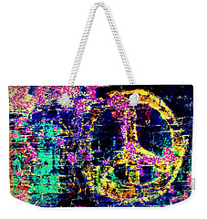 Weekender Tote Bag featuring the photograph Peace Graffiti by Suzanne Stout