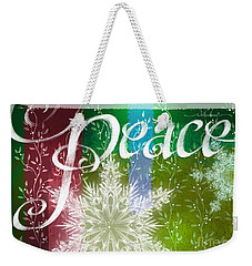 Peace Greeting Weekender Tote Bag