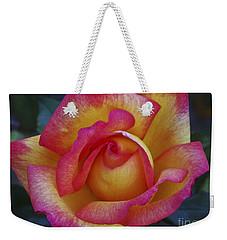 Peace In Floral Format Weekender Tote Bag by Kathy McClure