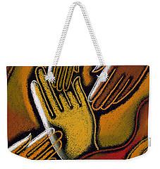 Peace Weekender Tote Bag by Leon Zernitsky