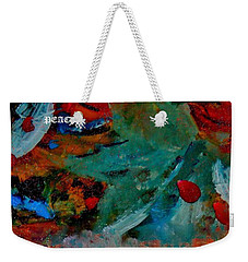 Weekender Tote Bag featuring the painting Peace by Lisa Kaiser
