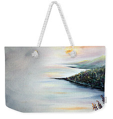 Weekender Tote Bag featuring the painting Peace by Meaghan Troup