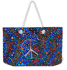 Weekender Tote Bag featuring the painting Peace Sign by Janice Dunbar
