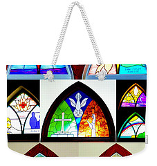 Peace To All Who Enter Here Weekender Tote Bag by Cricket Hackmann