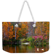 Peaceful Lake Weekender Tote Bag
