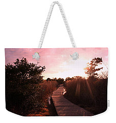Weekender Tote Bag featuring the photograph Peaceful Path by Karen Silvestri