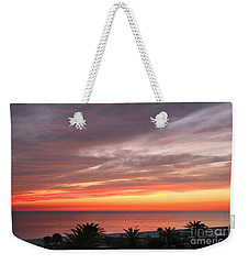 Weekender Tote Bag featuring the photograph Peaceful Sunset by Mariarosa Rockefeller