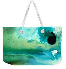 Weekender Tote Bag featuring the painting Peaceful Understanding by Sharon Cummings