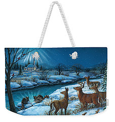 Peaceful Winters Night Weekender Tote Bag