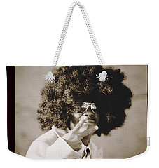 Weekender Tote Bag featuring the photograph Peaceman by Alice Gipson