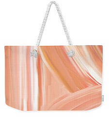 Peach Accent Weekender Tote Bag by Lourry Legarde