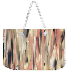 Peach And Blue Weekender Tote Bag by Lourry Legarde