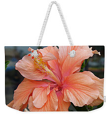 Weekender Tote Bag featuring the photograph Peach And Cream by Lingfai Leung