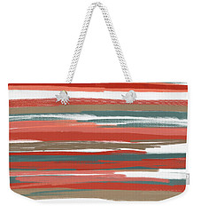 Peach And Neutrals Weekender Tote Bag by Lourry Legarde
