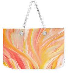 Peach Flare Weekender Tote Bag by Lourry Legarde