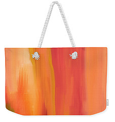 Peach Floral Weekender Tote Bag by Lourry Legarde
