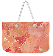 Peach Galore Weekender Tote Bag by Lourry Legarde