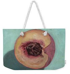Peach Half Weekender Tote Bag