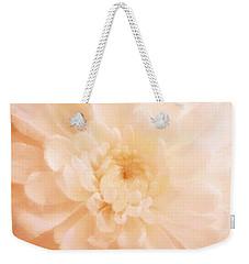 Peach Mum Luminous Painted Blossom Weekender Tote Bag