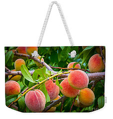 Peaches Weekender Tote Bag by Inge Johnsson