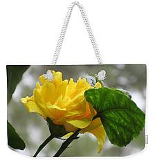 Peachy Yellow Surprise Weekender Tote Bag