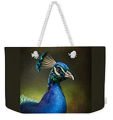 Peacock Weekender Tote Bag by Ann Lauwers