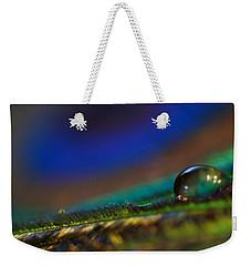 Peacock Drop Weekender Tote Bag