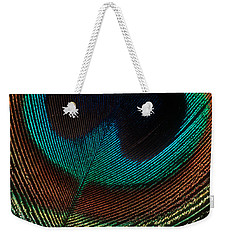 Peacock Feather Weekender Tote Bag by Jerry Fornarotto