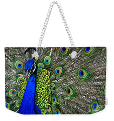 Peacock Head Weekender Tote Bag