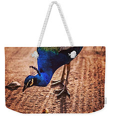 Peacock In Africa Weekender Tote Bag