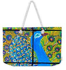 Peacock Ix Weekender Tote Bag by Kruti Shah