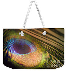 Peacock Party Weekender Tote Bag by Jan Bickerton