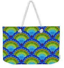 Peacock Scallop Feathers Weekender Tote Bag