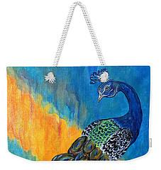 Peacock Waltz #3 Weekender Tote Bag by Ella Kaye Dickey