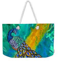 Peacock Waltz II Weekender Tote Bag