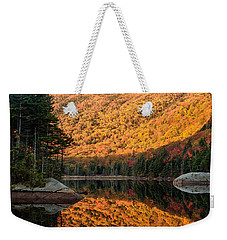 Peak Fall Foliage On Beaver Pond Weekender Tote Bag by Jeff Folger