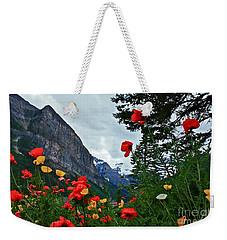 Peaks And Poppies Weekender Tote Bag