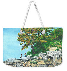 Peaks Island Weekender Tote Bag by Troy Levesque