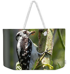 Peanut Butter Loving Red Caucated Woodpecker Weekender Tote Bag