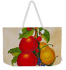Pear And Apples Weekender Tote Bag